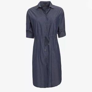 ATM Chambray Blue Shirt Dress